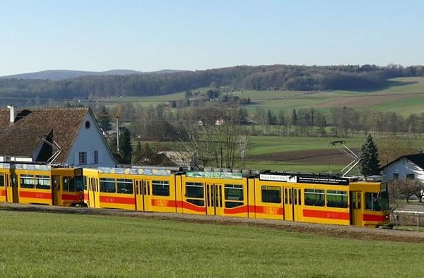 Tram de Leymen - itineraire franco-suisse